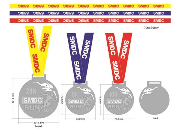 SMDC Run 2018 Medal