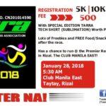 TaRRA Fun Run 2018 5/10K (Rizal)