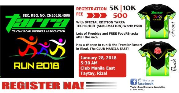 TaRRA Fun Run 2018 Poster
