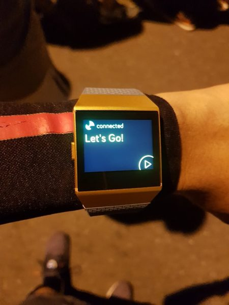 Fitbit Iconic - Wearing on Hand