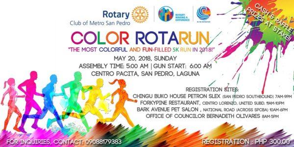 Color Rotarun 2018 Poster