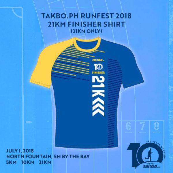 Takbo.ph 21KM Finisher Shirt