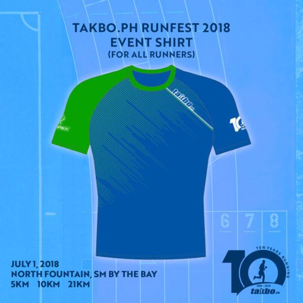 Takbo.ph 21KM Event Shirt