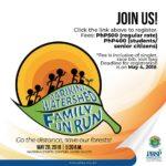 Marikina Watershed Family Fun Run 2018 Poster