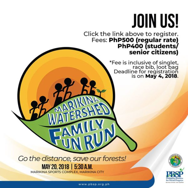 Marikina Watershed Family Fun Run 2018 Poster