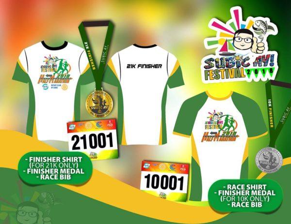 Subic-Ay! Half Marathon 2018 Inclusions