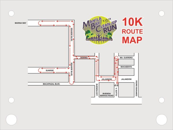 Manila Bay Clean Up Run 2018 10K Race Route
