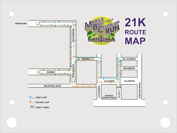 Manila Bay Clean Up Run 2018 21K Race Route
