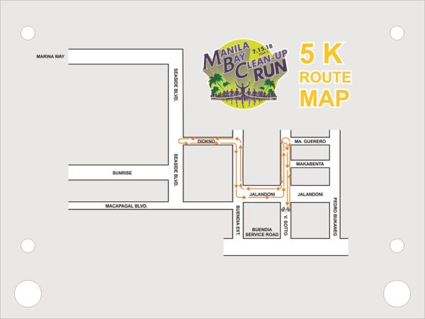 Manila Bay Clean Up Run 2018 5K Race Route