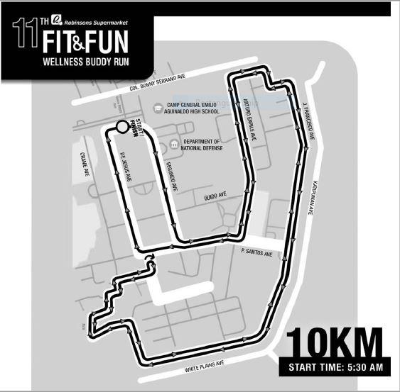 Robinsons Buddy Run 2018 10K Race Map
