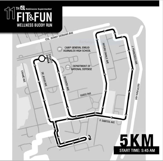 Robinsons Buddy Run 2018 5K Race Map