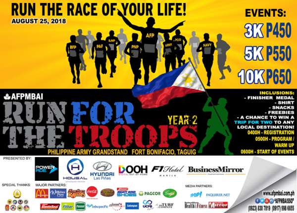 Run for the Troops 2018 Poster