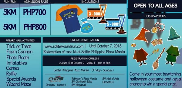 Sofitel Wizard Run 2018 Details