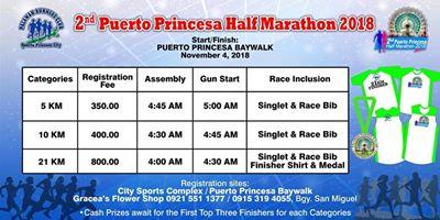 Puerto Princesa Half Marathon 2018 Poster