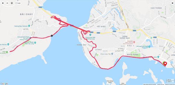 Halong Bay Marathon 21KM Route