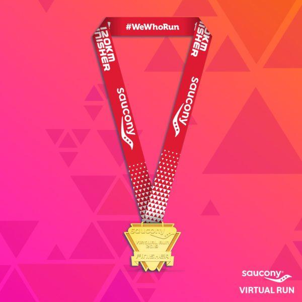 Saucony Virtual Run 2019 Medal