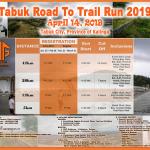 TABUK ROAD TO TRAIL RUN 2019