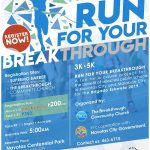 RUN FOR YOUR BREAKTHROUGH 2019 Poster