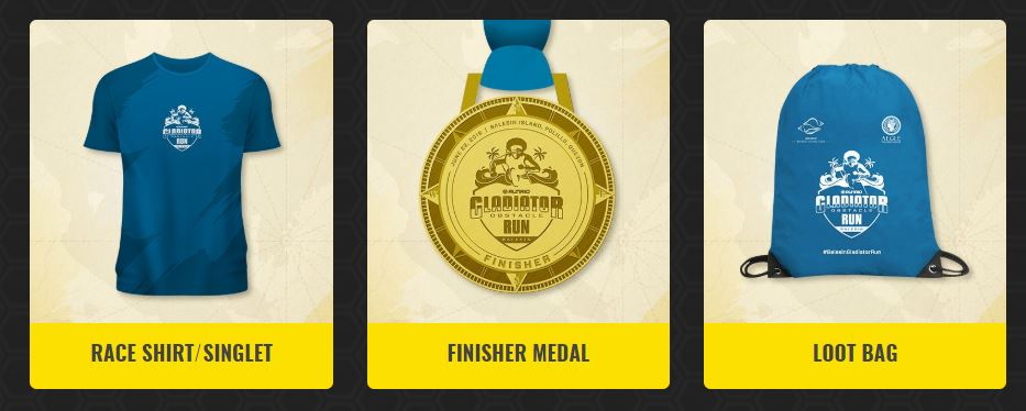 Gladiator Obstacle Run 2019 Medal