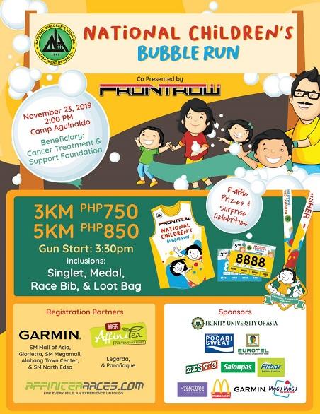 National Childrens Bubble Run 2019