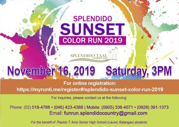 Splendido Sunset Color Run 2019
